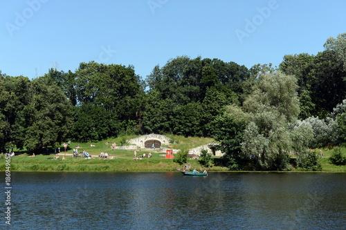 Aluminium Moskou Upper Kuzminsky pond in the natural-historical park