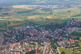 views of the European landscape from the plane - 186951621