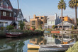 Serene and peaceful landscape of Venice Canal Historic District, Los Angeles, California