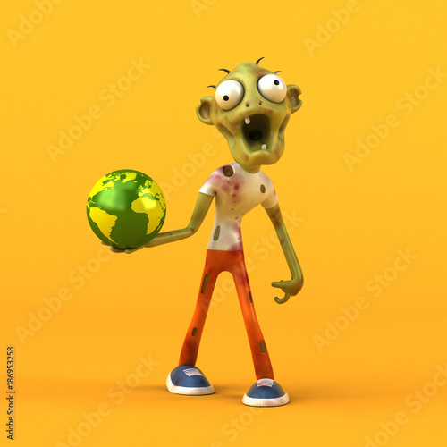 Fun zombie - 3D Illustration - 186953258