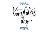 february 6 - translators' day - armenia, hand lettering inscript