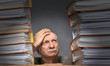 Overworked stressed senior businessman