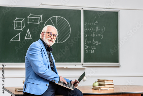 Senior confident man working