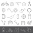 Line Icons - Bicycle Parts and Equipment