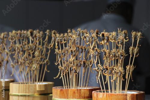 Deurstickers Peking kurioses Essen in China