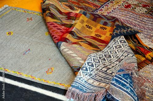 Fotobehang Marokko Traditional berber carpets