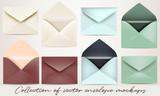 Big set of vector envelope mockups for design - 186987844