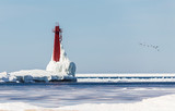 Lighthouse in Michigan  - 186990406