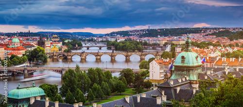 Foto op Canvas Praag Charles Bridge in the Old Town of Prague, Czech Republic