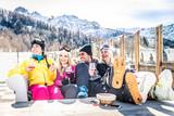 Friends on winter holidays - 187003217