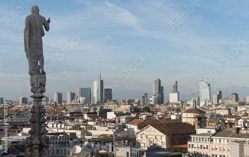 Fotobehang Milan Milan skyline