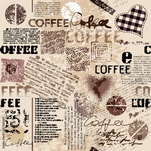 kawa-abstrakcjonistyczny-kawa-wzor-na-brown-tle-z-lettring-bezszwowy-wzor