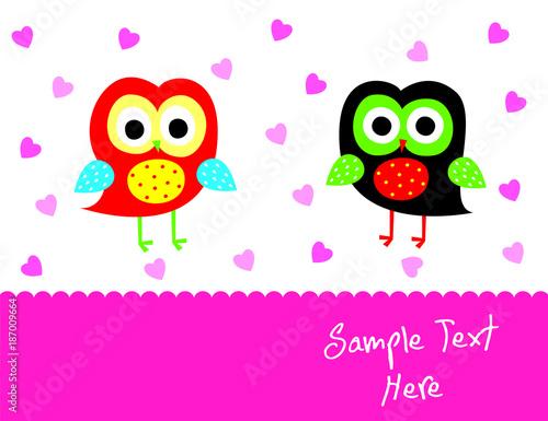 Keuken foto achterwand Uilen cartoon cute owl vector