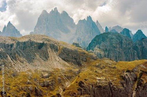 Scenic Dolomites Mountains