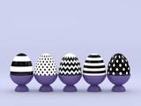 3d rendering of Easter elegant eggs - 187011498