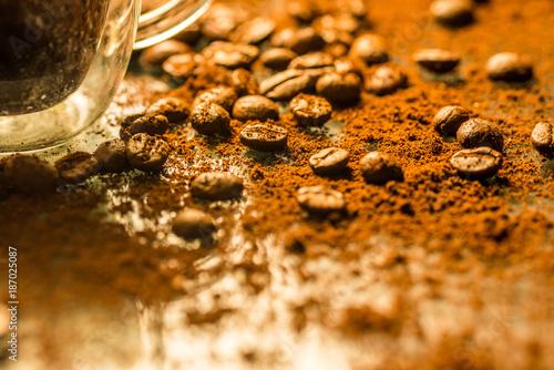 In de dag Koffiebonen bean