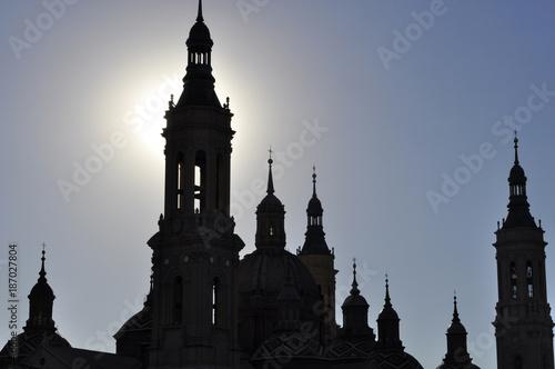 Puesta de sol en Zaragoza