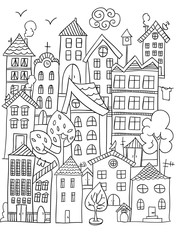 City coloring page.