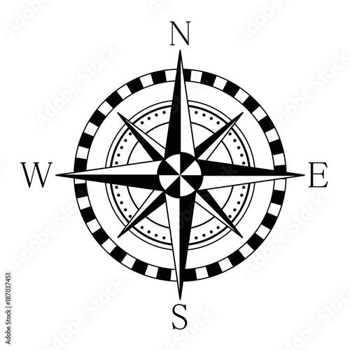 Fototapeta Compass wind rose. Stock vector