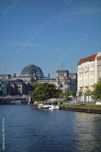 Aluminium Berlijn Reichstag and Spree River