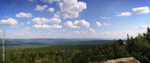 Fotobehang Panoramafoto s Mountain rocks Taganay