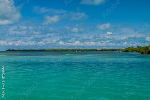 Foto op Aluminium Tropical strand View of a coast of Caye Caulker island, Belize