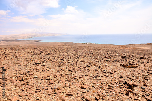 Tuinposter Zalm Landscape in Tropical Volcanic Canary Islands Spain