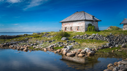 A house by the White Sea. Anzer Island. The Solovki. Russia.