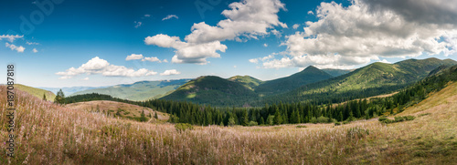 On the top of the mountain. Weather station Pozhigovskaya. Carpathians. Ukraine.