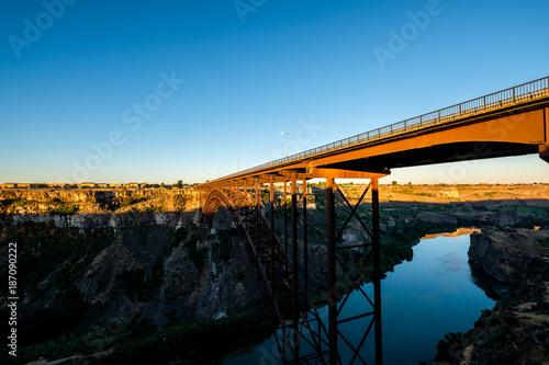 Papiers peints Ponts Snake River and Perrine Bridge near Twin Falls, Idaho