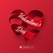 Valentines day heart shape and ribbon - 187092470