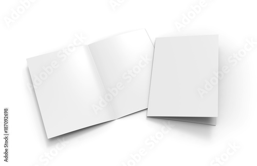 a3 half fold brochure blank white template for mock up and