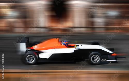 Fotobehang F1 Racing car Formula 4.0 in motion
