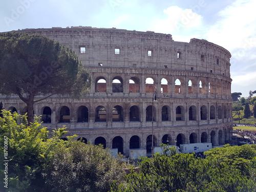 Fotobehang Rome The rome coliseum