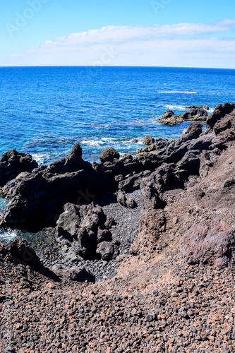Tuinposter Donkergrijs Landscape in Tropical Volcanic Canary Islands Spain