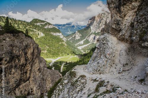 Foto op Aluminium Cappuccino Sentiero Armentarola tra le Dolomiti (Trentino Alto Adige, Italia)