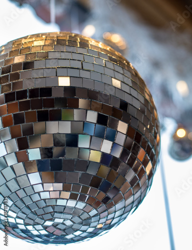 Close Up of Mirror Ball - 187117835