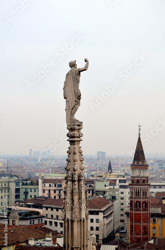 Fotobehang Milan Blick vom Dom auf Mailand