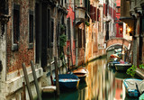 Picturesque canal in the beautiful city of Venice, Italy. - 187127075