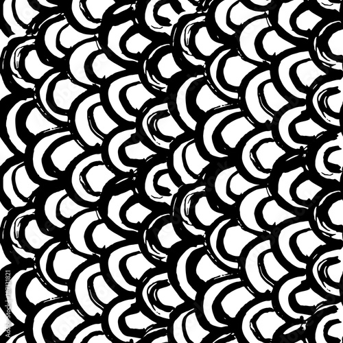 Materiał do szycia Indigo tie dye seamless pattern.