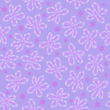 Vector floral seamless background in pastel purple tones for design of fabric, wrapping paper, greeting cards