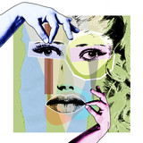 Cosmetology and plastic surgery. A modern poster in the style of pop art.. - 187136467