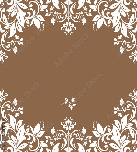 Abstract floral pattern. Vector seamless background. Perfect for invitations or announcements. - 187140688