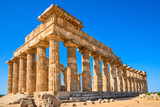 Selinunte, Italy, Sicily. Ancient Greek city on the south coast of Sicily, Italy. Acropolis of Selinunte. - 187145899