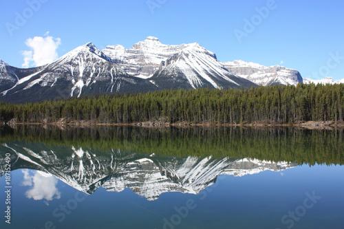 Foto op Canvas Bergen Canadian Rockies Lake Herbert