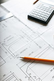 plan - drawing on the table - 187153638