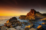 sea, sunset