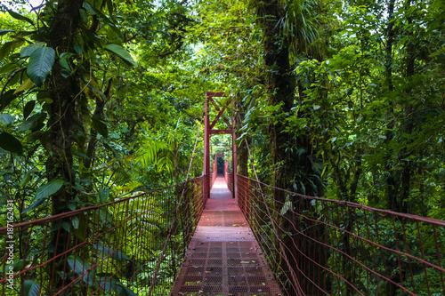 Papiers peints Route dans la forêt Mittelamerika - Costa Rica - Monteverde - Hängebrücke