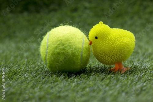 Fototapeta Happy Easter to tennis player