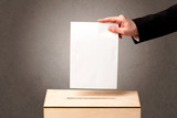 Ballot box with pers...